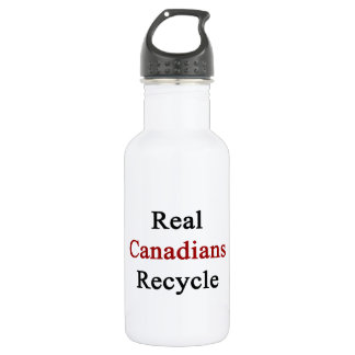 Real Canadians Recycle Water Bottle