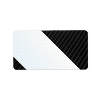 Real Carbon Fiber and Halftone Textured Layout Label