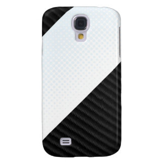 Real Carbon Fiber and Halftone Textured Layout Samsung Galaxy S4 Case