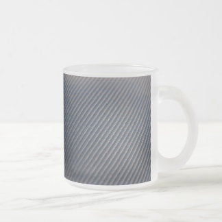 Real Carbon Fiber Photo Texture 10 Oz Frosted Glass Coffee Mug
