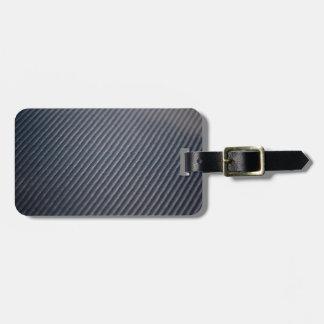 Real Carbon Fiber Photo Texture Bag Tag