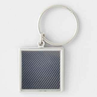 Real Carbon Fiber Photo Texture Keychain