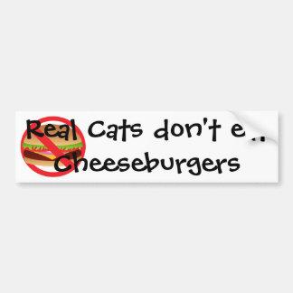Real Cats Bumper Sticker