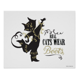 Real Cats Wear Boots Poster