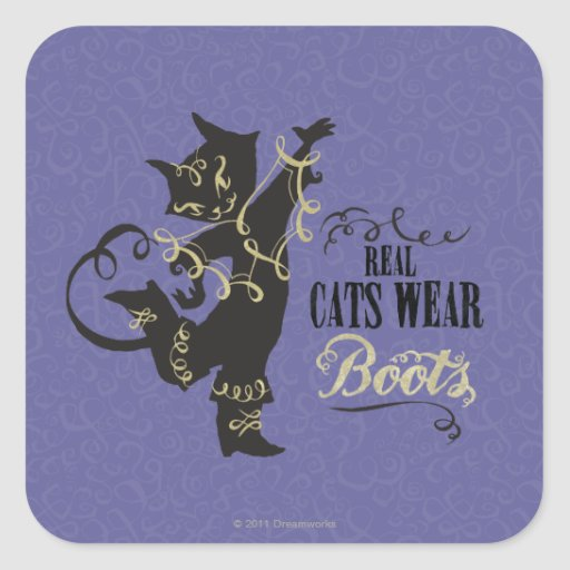 Real Cats Wear Boots Sticker
