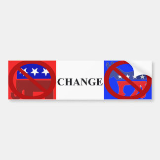Real change No Dem No Rep. Bumper Sticker