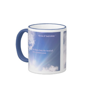 real cloud photo with original quote ringer coffee mug
