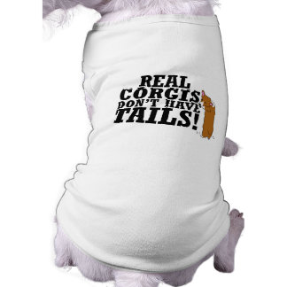 Real Corgis Don't Have Tails Dog Tee Shirt