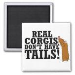 Real Corgis Don't Have Tails Fridge Magnets