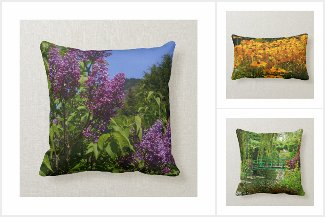 Real country, garden, nature scene cushions