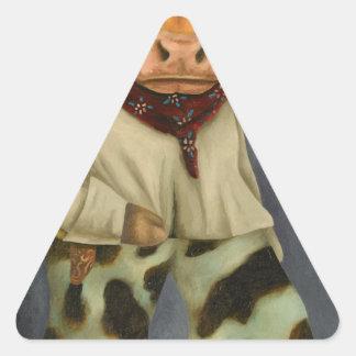 Real Cowboy 2 Triangle Sticker