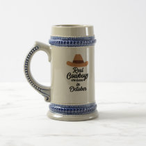 Real Cowboys are bon in October Zm9xh Beer Stein