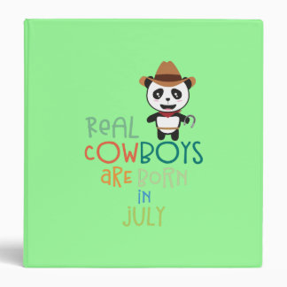 Real Cowboys are born in July Zf3vh 3 Ring Binder