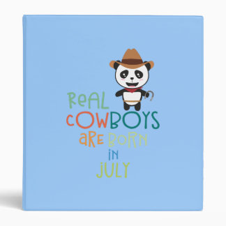 Real Cowboys are born in July Zf3vh Binder