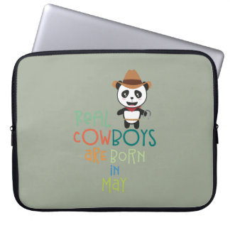 Real Cowboys are born in May Zghtr Computer Sleeve