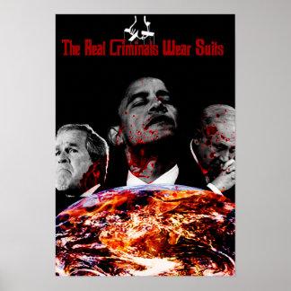 Real Criminals wear Suits Poster
