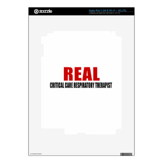 REAL CRITICAL CARE RESPIRATORY THERAPIST iPad 3 DECAL