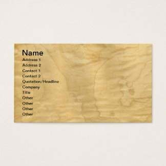 Real Curly Maple Veneer Woodgrain Business Card