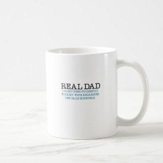 Real Dad (blue diaper) Classic White Coffee Mug