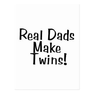 Real Dads Make Twins Postcard