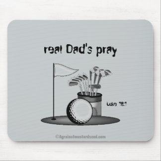 Real Dad's Pray Father's Day Mouse Pad