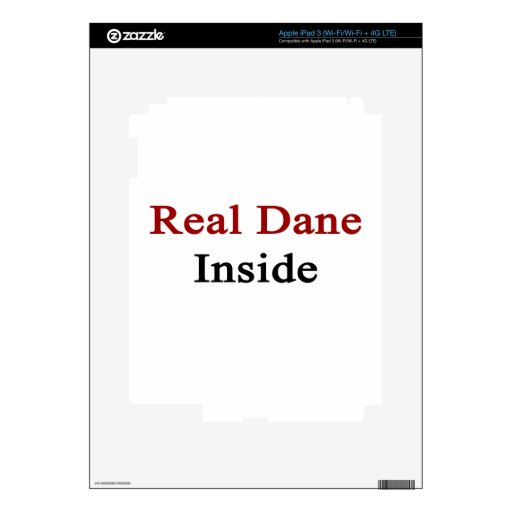 Real Dane Inside Decals For iPad 3