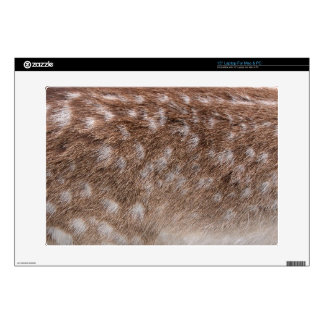 "Real Deer Fur Photo Sampling Wildlife Gift 15"" Laptop Decal"