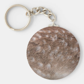 Real Deer Fur Photo Sampling Wildlife Gift Basic Round Button Keychain