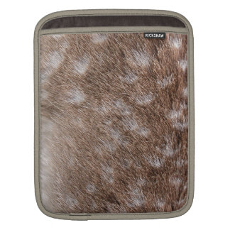 Real Deer Fur Photo Sampling Wildlife Gift iPad Sleeve