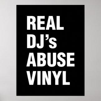 REAL DJ's ABUSE VINYL Poster