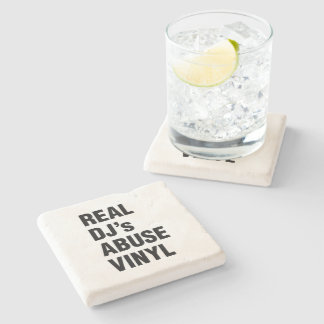 REAL DJ's ABUSE VINYL Stone Coaster