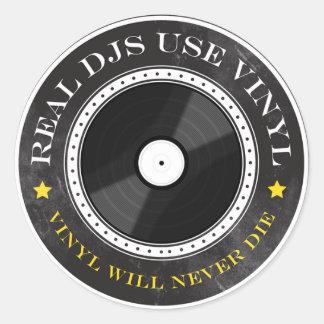 Real DJs Use Vinyl Round Stickers