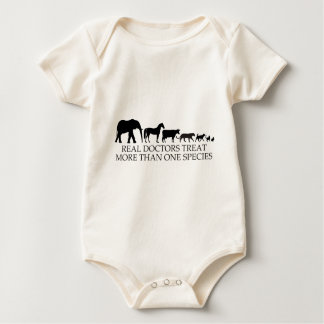 Real Doctors (Vets) Treat More Than One Species Baby Bodysuit