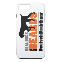 Real Dogs Have Beards - Deutsch Drahthaar iPhone 8 Plus/7 Plus Case
