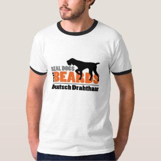 Real Dogs Have Beards - Deutsch Drahthaar T-Shirt