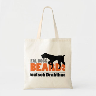 Real Dogs Have Beards - Deutsch Drahthaar Tote Bag