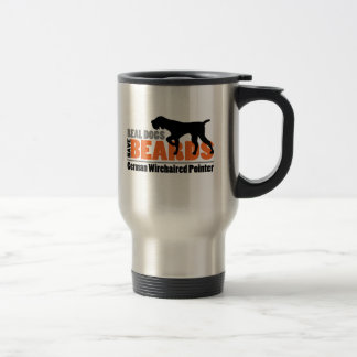 Real Dogs Have Beards - German Wirehaired Pointer 15 Oz Stainless Steel Travel Mug