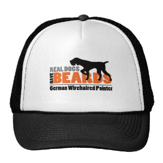 Real Dogs Have Beards - German Wirehaired Pointer Mesh Hat