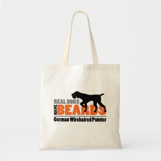 Real Dogs Have Beards - German Wirehaired Pointer Tote Bag