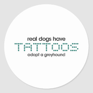Real Dogs Have Tattoos Classic Round Sticker