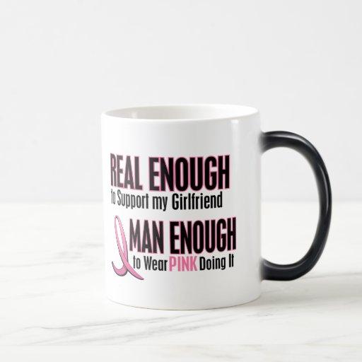 Real Enough BREAST CANCER T-Shirts (Girlfriend) 11 Oz Magic Heat Color-Changing Coffee Mug