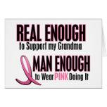 Real Enough BREAST CANCER T-Shirts (Grandma) Greeting Card