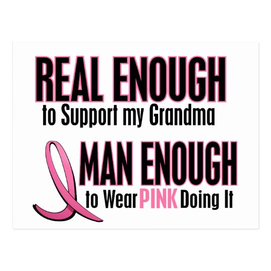 Real Enough BREAST CANCER T-Shirts (Grandma) Postcard