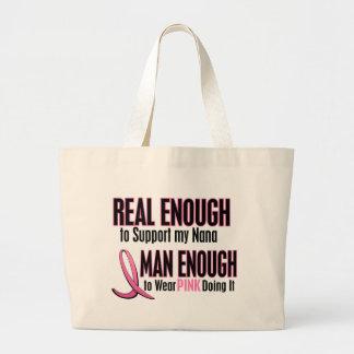 Real Enough BREAST CANCER T-Shirts (Nana) Large Tote Bag