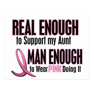 Real Enough Man Enough 1 AUNT Breast Cancer Postcard