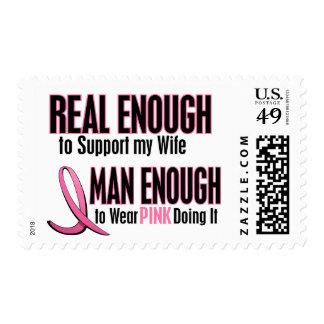Real Enough Man Enough 1 Wife Breast Cancer Postage