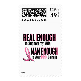 Real Enough Man Enough 1 Wife Breast Cancer Stamp