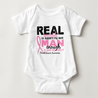 Real Enough Man Enough Aunt 2 Breast Cancer T-shirts