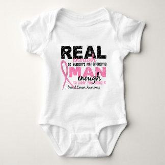 Real Enough Man Enough Grandma 2 Breast Cancer Baby Bodysuit
