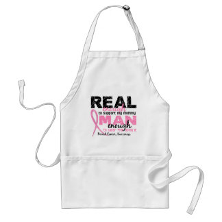 Real Enough Man Enough Mommy 2 Breast Cancer Aprons